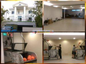 台南廖公館 豪宅 遊戲室規劃 室內運動 籃球機買賣