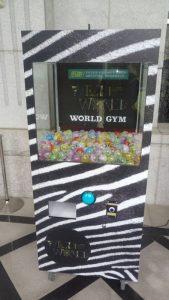 Celine扭蛋機 狂野又吸睛 WORLD GYM世界健身俱樂部  大型活動 扭蛋機