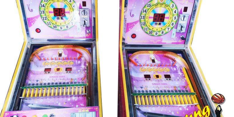 暑假同樂 中古粉色魔法彈珠台 彈珠台 兒童彈珠遊戲機 可愛彈珠台 大型電玩販售 陽昇國際