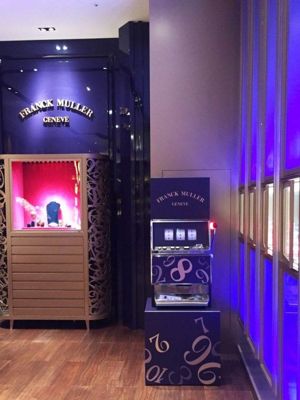 2019《FRANCK MULLER微風南山專賣店》品牌行銷活動 拉霸機 客製化貼圖 吃角子老虎 遊戲機